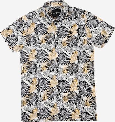 D-XEL Overhemd 'PHILIP' in de kleur Antraciet / Lichtoranje / Wit, Productweergave