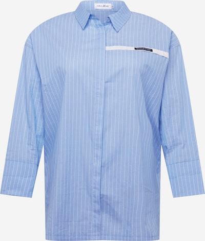 Public Desire Curve Robe-chemise en bleu clair / blanc, Vue avec produit