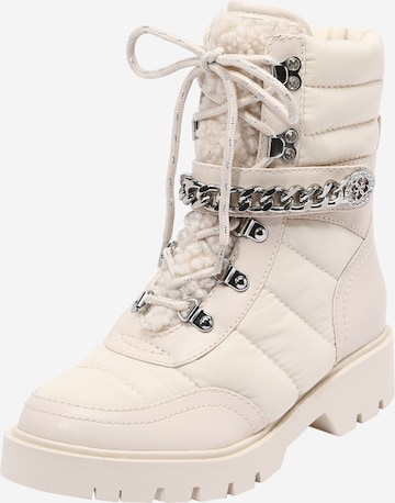 GUESS Lace-Up Ankle Boots 'Rasida' in Beige