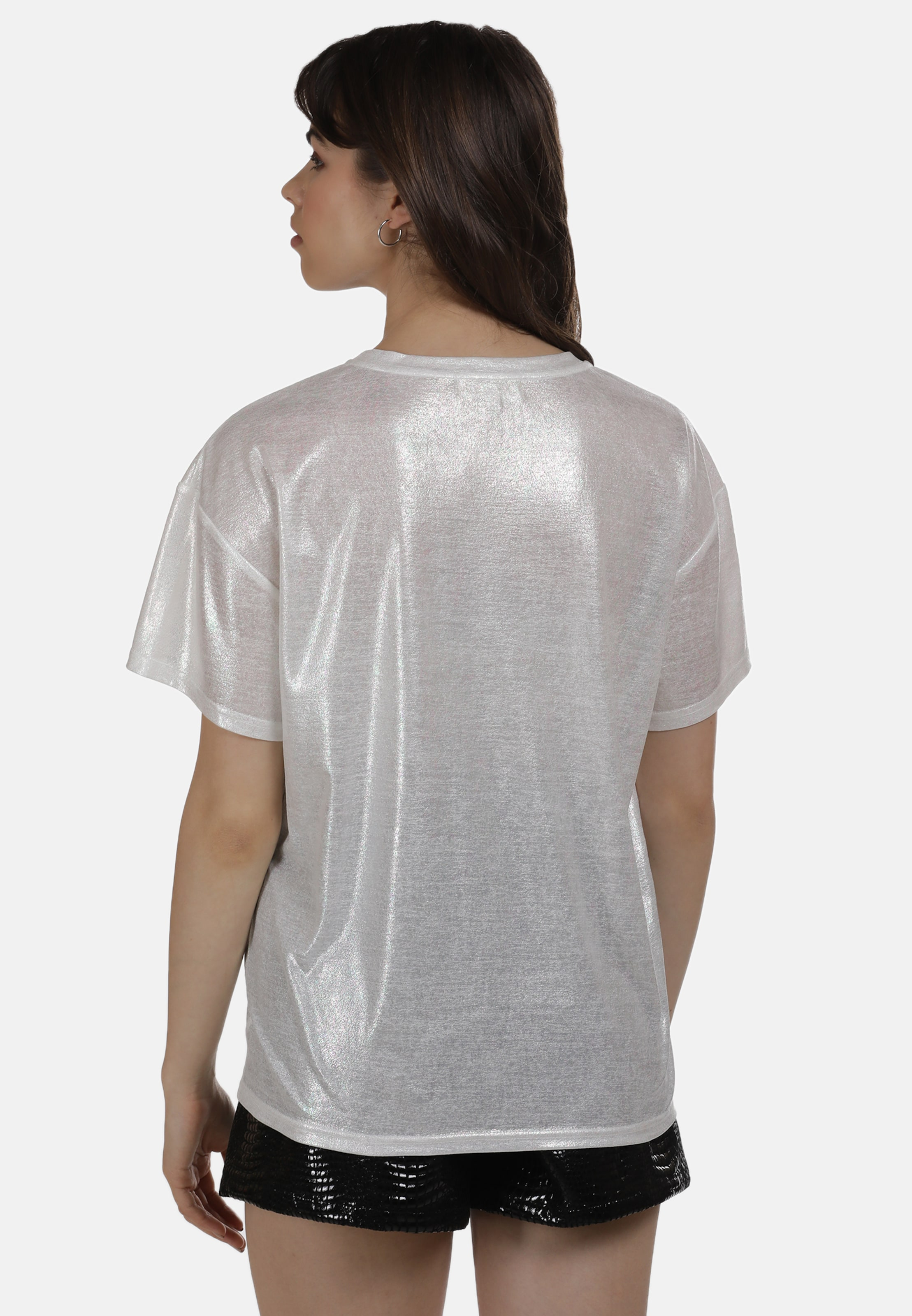 MYMO Shirt in lila / weiß