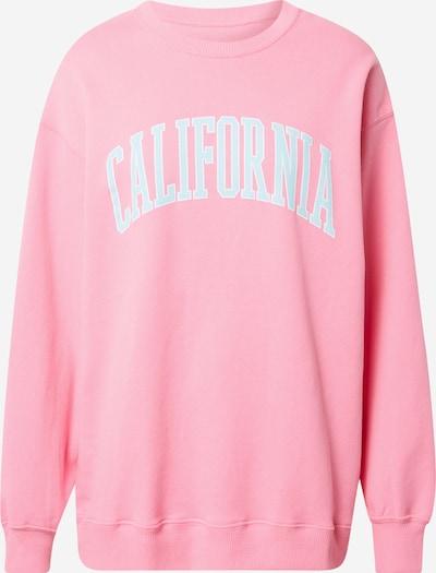 HOLLISTER Sweat-shirt en bleu clair / rose / blanc, Vue avec produit