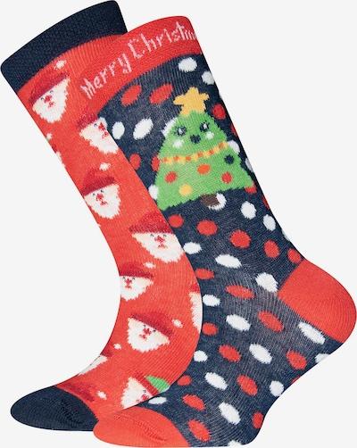 EWERS Čarape u plava / zelena / crvena / bijela, Pregled proizvoda