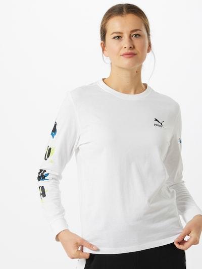 PUMA Koszulka w kolorze niebieski / czarny / białym: Widok z przodu
