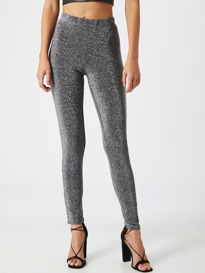 PIECES Leggings 'Rina' in silber: Frontalansicht