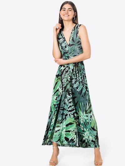 MAX&Co. Jurk 'PADRINO' in de kleur Kiwi / Pastelgroen / Donkergroen / Zwart, Modelweergave