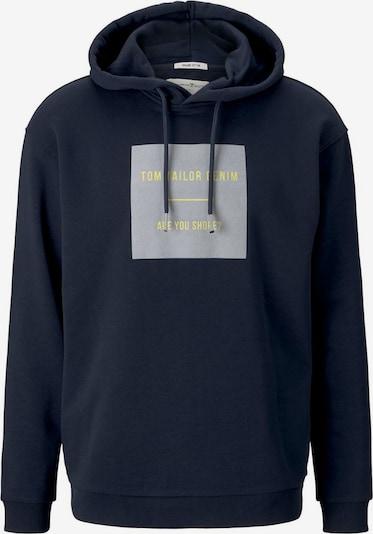 TOM TAILOR DENIM Sweatshirt in dunkelblau / gelb / basaltgrau, Produktansicht