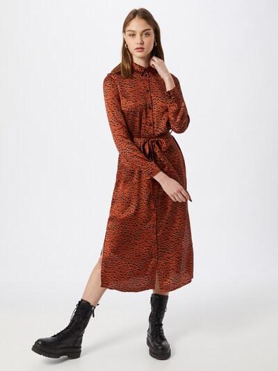 VILA Robe-chemise 'RAMDI' en marron / noir, Vue avec modèle
