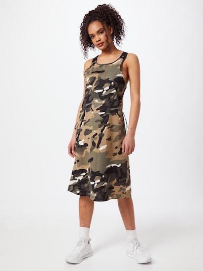 G-Star RAW Kleid in beige / hellbraun / khaki / schwarz, Modelansicht