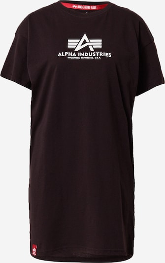 ALPHA INDUSTRIES Тениска в черно / бяло, Преглед на продукта