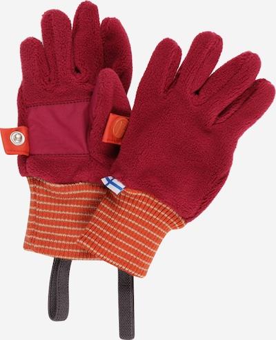 FINKID Gants 'SORMIKAS' en orange / rouge / blanc, Vue avec produit