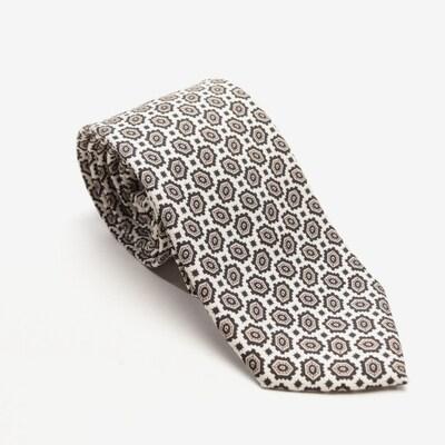 PRADA Krawatte in One Size in creme / braun, Produktansicht