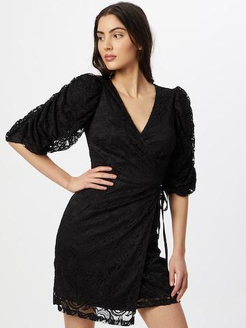 Skirt & Stiletto Cocktail Dress in Black