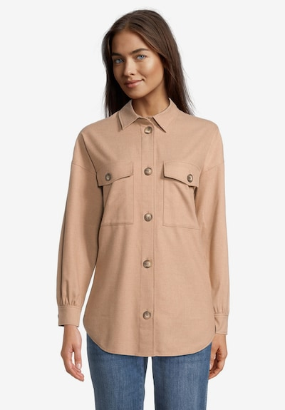 Betty & Co Overshirt mit aufgesetzten Taschen in braun, Modelansicht
