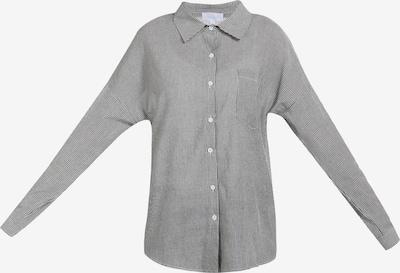 usha BLUE LABEL Hemdbluse in schwarz / weiß, Produktansicht