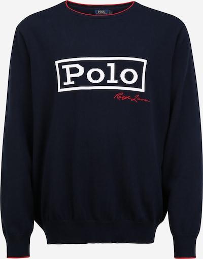 POLO RALPH LAUREN Pullover in navy / nachtblau / hellrot / weiß, Produktansicht