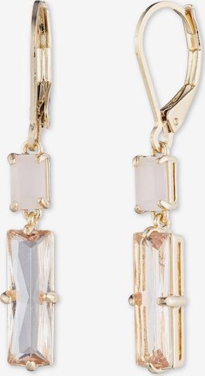Lauren Ralph Lauren Boucles d'oreilles 'Double Stone Drop' en or, Vue avec produit