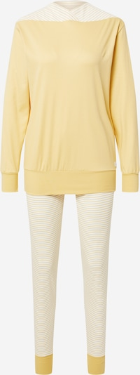 CALIDA Pyjama en jaune clair / blanc, Vue avec produit