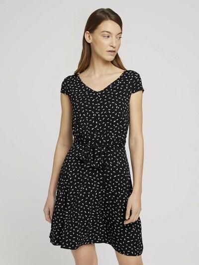 TOM TAILOR Kleid in rostrot / schwarz / weiß, Modelansicht