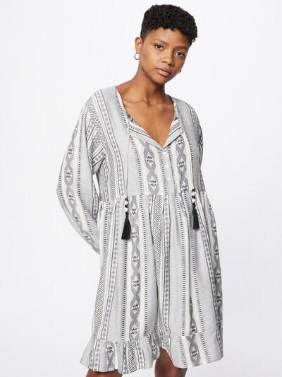 Zwillingsherz Šaty 'Nala' - šedá / černá / bílá, Model/ka