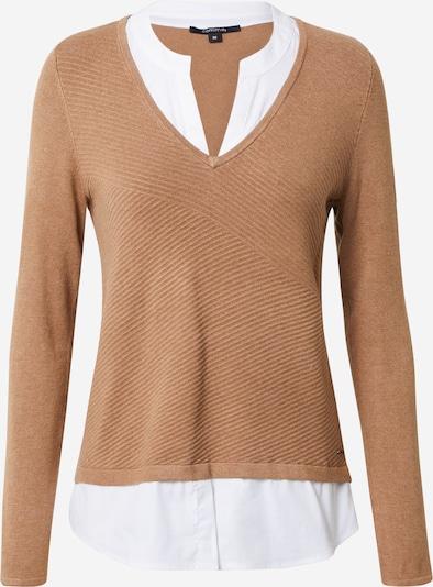 COMMA Pullover in braun / weiß, Produktansicht