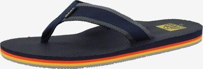 REEF Strand-/badschoen ' Beach Woven ' in de kleur Marine / Geel / Sinaasappel, Productweergave