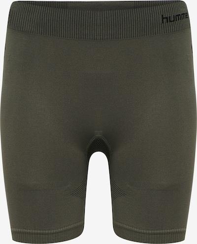 Hummel Tight Shorts in khaki / schwarz, Produktansicht