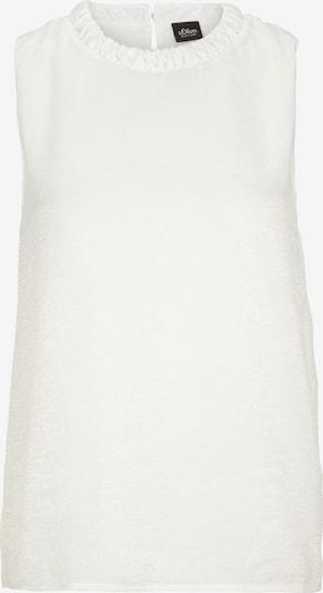 s.Oliver BLACK LABEL Blusentop in weiß, Produktansicht