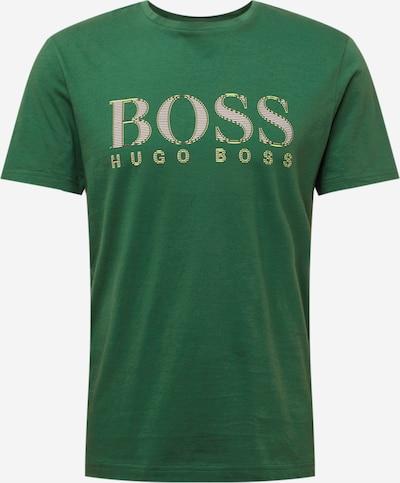 BOSS ATHLEISURE Majica | temno zelena barva: Frontalni pogled