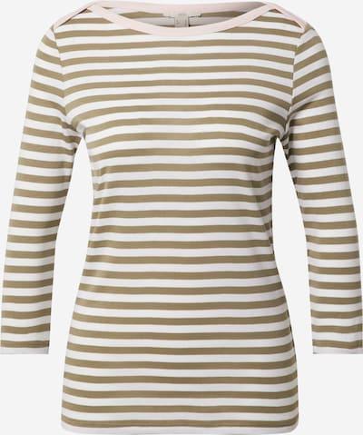 EDC BY ESPRIT Camiseta en caqui / rosa / blanco, Vista del producto