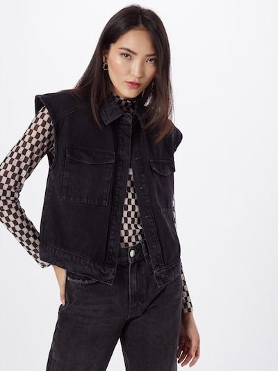 VERO MODA Weste 'Meave' in black denim, Modelansicht