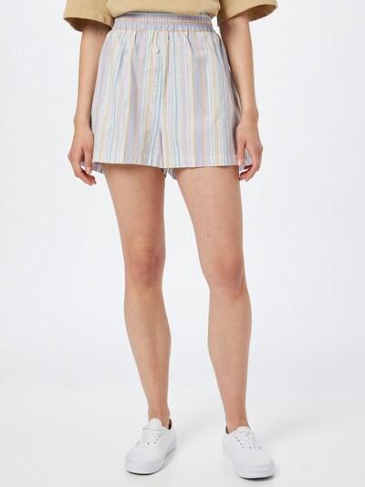 Cotton On Pantalon en bleu clair / noisette / violet clair / blanc, Vue avec modèle