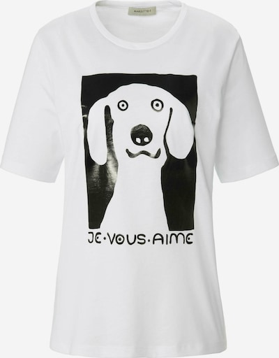 MARGITTES Shirt in schwarz / weiß, Produktansicht