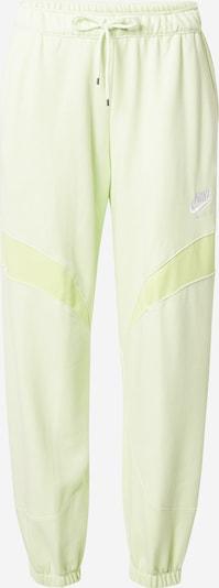 Pantaloni Nike Sportswear di colore lime / bianco, Visualizzazione prodotti