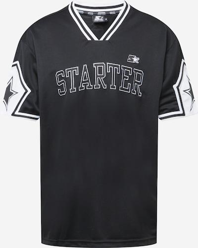 Starter Black Label Klederdracht shirt in de kleur Zwart / Wit, Productweergave