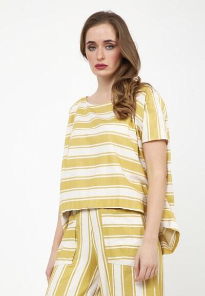 Madam-T Tunika 'SHARON' in gelb / weiß, Modelansicht