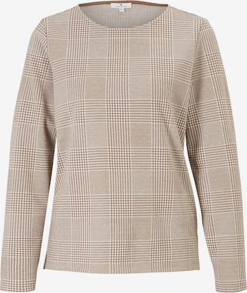 TOM TAILOR Sweatshirt in Beige