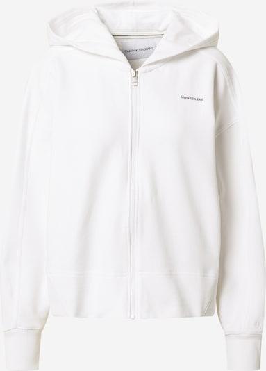 Calvin Klein Jeans Veste de survêtement en noir / blanc, Vue avec produit