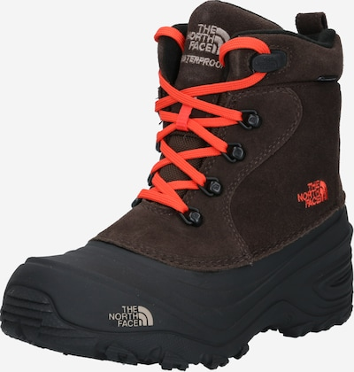 THE NORTH FACE Boots 'CHILKAT LACE II' in de kleur Donkerbruin / Donkeroranje / Zwart, Productweergave