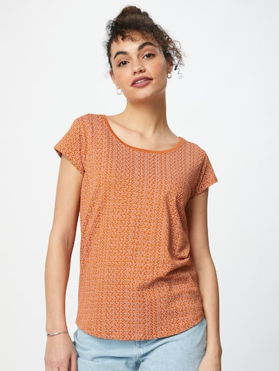Sublevel Shirt in Cognac / White: Frontal view