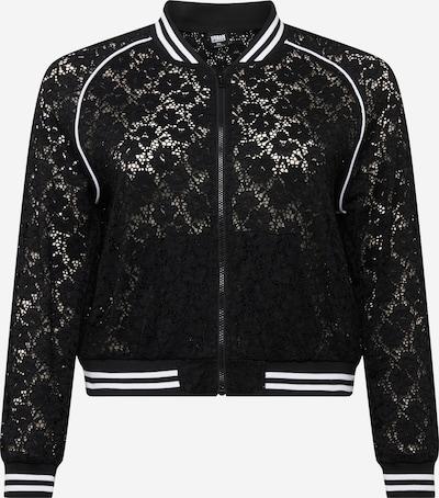 Urban Classics Curvy Prehodna jakna | črna barva, Prikaz izdelka