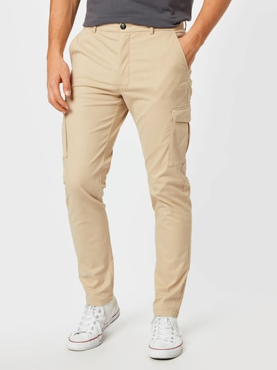 JACK & JONES Pantalon cargo 'MARCO PRATT' en beige, Vue avec modèle