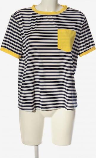 SheIn Kurzarm-Bluse in L in pastellgelb / schwarz / weiß, Produktansicht