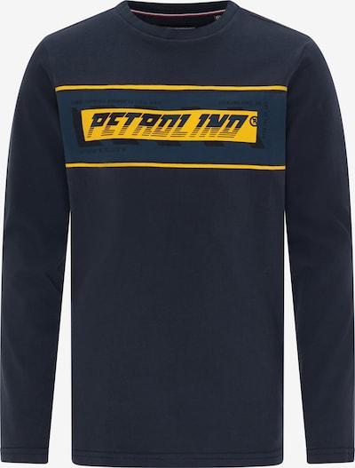 Petrol Industries T-Shirt in navy / gelb, Produktansicht