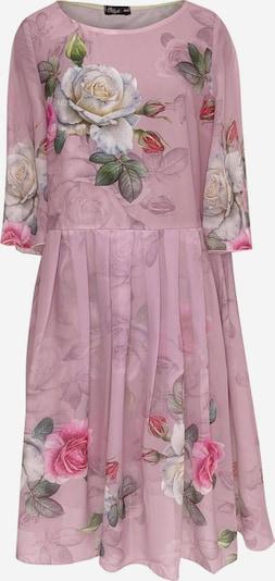 Wisell Kleid in grasgrün / pink, Produktansicht