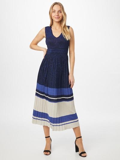 Rochie tricotat Twinset pe bleumarin / albastru regal / alb, Vizualizare model