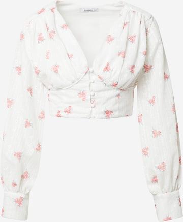 GLAMOROUS Bluse in Weiß