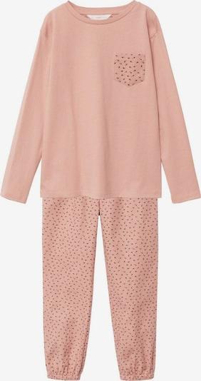 MANGO KIDS Pyjama 'Gina' in hellpink / schwarz, Produktansicht