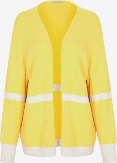 BASEFIELD Strickjacke in gelb / weiß, Produktansicht