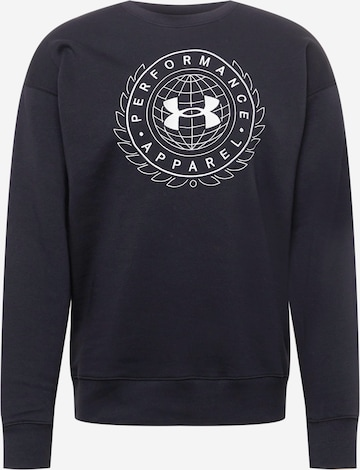 UNDER ARMOUR Αθλητική μπλούζα φούτερ 'RIVAL' σε μαύρο