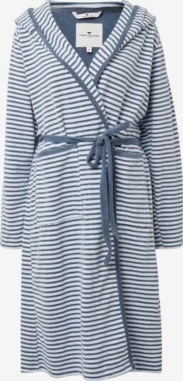 TOM TAILOR Badjas lang  in de kleur Blauw / Wit, Productweergave